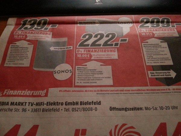 [Lokal Bielefeld] Sonos Play 1 139€ Play 3 222€