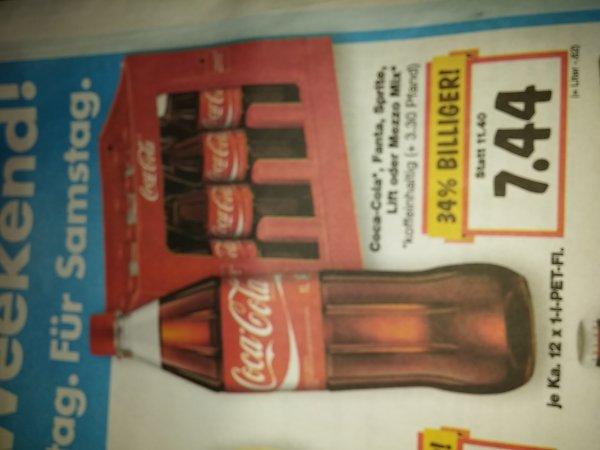 Coca cola fanta sprite lift Mezzo mix 12x1 liter 7.44€ @ kaufland bundesweit