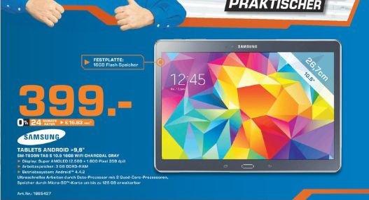 [Lokal/Saturn Bad Oeynhausen) Samsung Galaxy Tab S T805 10.5 WIFI,Charcoal Gray für 399,-€ ....Abzüglich 100€ Casback