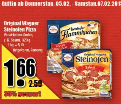 [Diska] Wagner Steinofen Pizza + Flammkuchen für 1,66 EUR - ab 05.02.