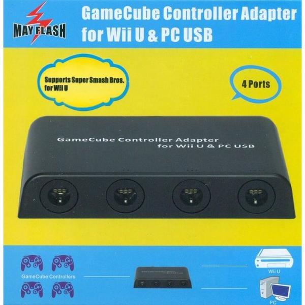 Gamecube Controller Adapter für Nintendo Wii U - MAYFLASH