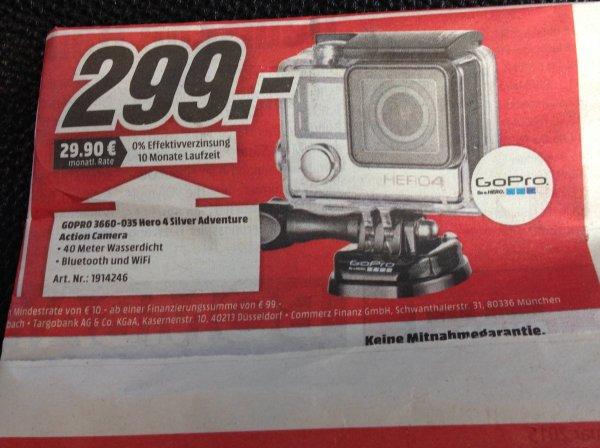 Lokal: Frankfurt, GoPro Hero 4 Silver für 299,- Euro