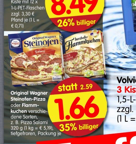Wagner Steinofen Pizza oder Flammkuchen beim Treff 3000 für 1,66,- vom 05.02. bis 07.02.