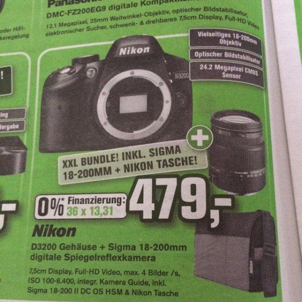 Nikon D3200 + Sigma 18-200mm Objektiv + Tasche @ Alpha Tecc
