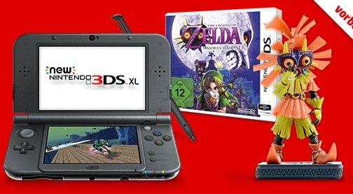 NEW 3DS XL inkl. ZELDA Bundle Vorbestellen für 243,99€ bei Media Markt