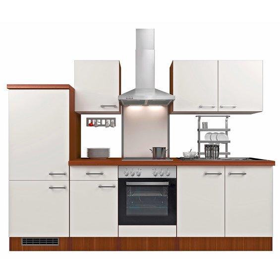 Küchenzeile 7925 270 cm ohne E-Geräte Perlmutt-Nussbaum für 289,99 € Obi