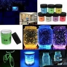 Ohhh das leuchtet im dunkeln 10 ml Phosphorenzierende Leuchtfarbe in 7 verschiedenen Farben für 1,30€ von Banggood