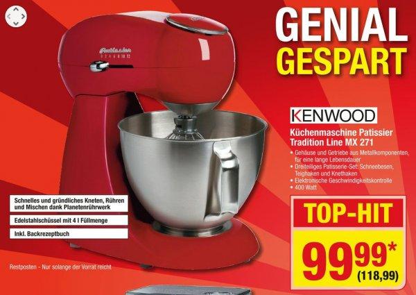 [Metro/Bundesweit] Kenwood MX 271 Patissier Küchenmaschine rot für 118,99€ vom 05.02 bis 11.02