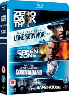(Amazon.uk) (BluRay) Lone Survivor / Zero Dark Thirty / Safe House / Green Zone / Contraband