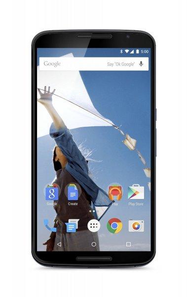 Google Nexus 6 in Blau oder Weiß - 32GB - Amazon FR WHD für 476€