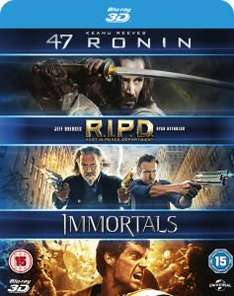 [3D Blu-ray] 47 Ronin / RIPD / Krieg der Götter @ Amazon.co.uk