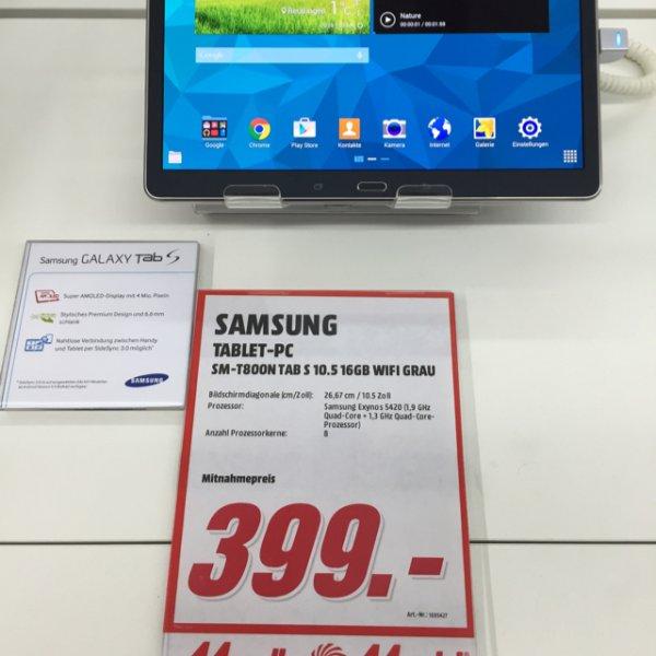 [Media Markt] Samsung Galaxy Tab S 10.5 WiFi für 399 € (mit Cashback für 299€) [Lokal Reutlingen]