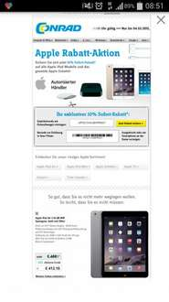 Apple Iphone 6 64Gb durch 10% Gutschein