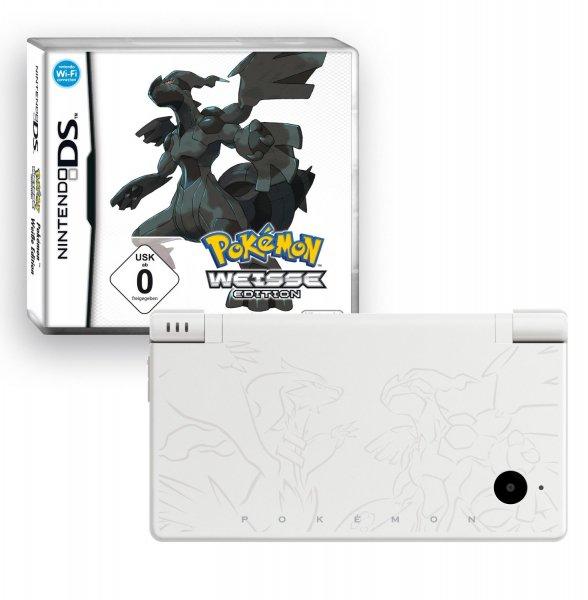 [3% Qipu] Nintendo DSi - Pokèmon-Edition-Weiß / integrierte Internetfunktion / mit Kamera / Music-Player für 79,99€ frei Haus @DC