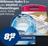 [Real - bundesweit] Wilkonson Hydro 5 Rasierklingen - 4er Pack