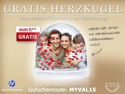Das passende Valentinstags-Geschenk für alle Mydealzer: Gratis Foto-Herzkugel (zzgl. 4,99€ Versand) @myprinting