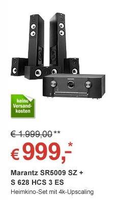 Marantz SR5009 SZ + Jamo S 628 HCS 3 Esche Schwarz Bundle (7.2 Netzwerk-AV-Receiver +Heimkinosystem) für 999,-€ VSK Frei @Redcoon