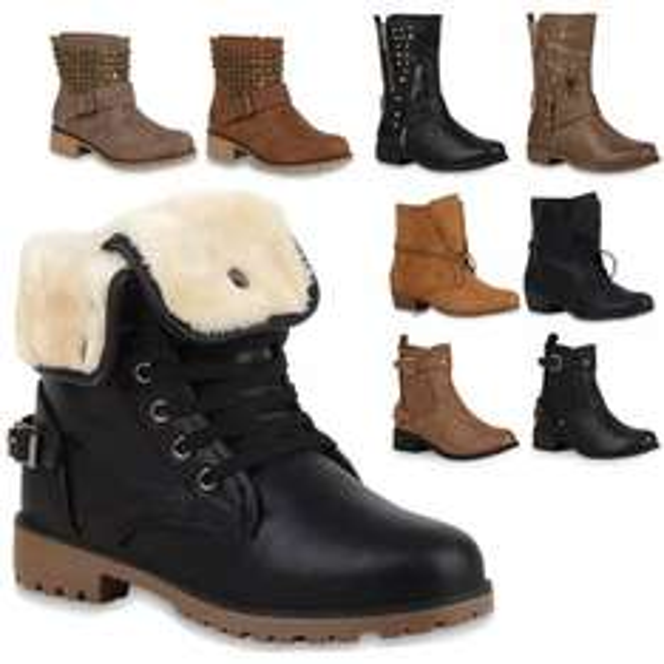 Ebay: Damen Stiefeletten Outdoor Boots Stiefel Viele Modelle 99875 Gr. 36-41