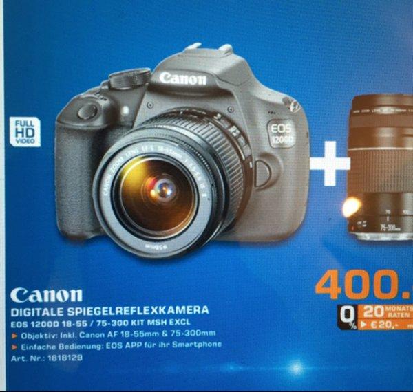 [Lokal Bochum] Canon EOS 1200D 18-55 / 75-300