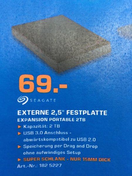 (Lokal) Seagate Expansion Portable 2TB externe Festplatte 2,5 Zoll für 69€ Saturn Berlin/Potsdam