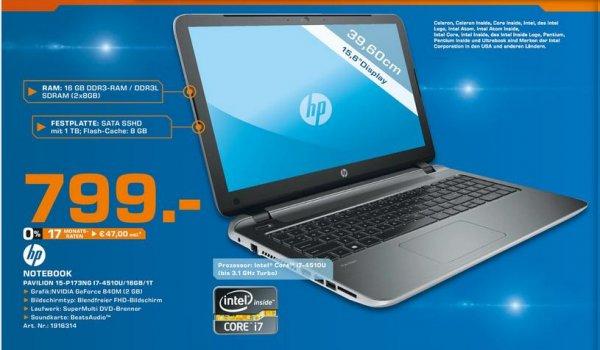HP Pavilion Notebook PC 15-p173ng @ Saturn Hürth / Kerpen