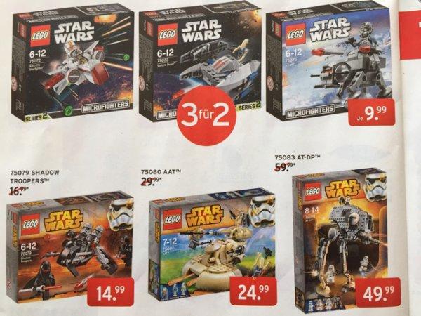 (Offline) Karstadt - Lego Star Wars Microfighters 3 für 2 (6,66 Euro p.St.)