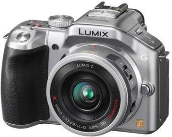 Panasonic Lumix DMC-G5XEG-S Systemkamera (16 MP, 16-fach opt.Zoom, (3 Zoll) Touchscreen, Full-HD Video, bildstabilisiert) silber inkl. Lumix G X Vario PZ 14-42mm OIS Objektiv@ Amazon