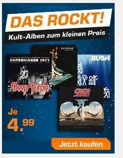 Rock CD-Aktion für je 4,99 € @ Saturn Online