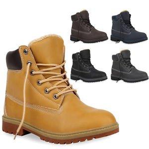 Herren & Damen & Kinder Warm Gefütterte Boots Outdoor Stiefel Gr. 28-46