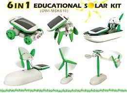 Solar 6 in 1 Auto, Boot, Flugzeug, Windrad, Hund und rotation plane für 3,32€ von Banggood