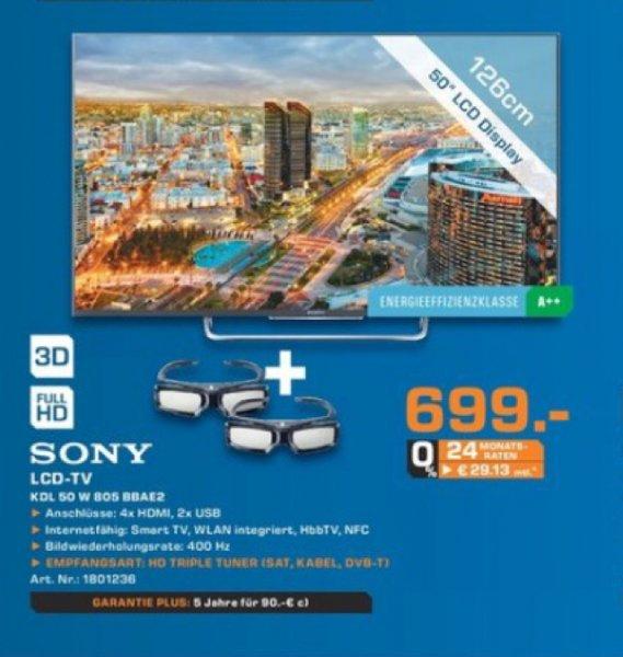 Saturn Paderborn!! Sony KDL 50 W 805 für 699€!
