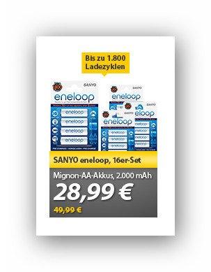 Sanyo Enelops AA bei Mein Paket für 28,99 Euro.
