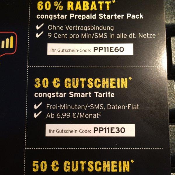 [D1]Congstar Prepaid Starter Pack f. Neukunden mit 10€ SGH für 4€