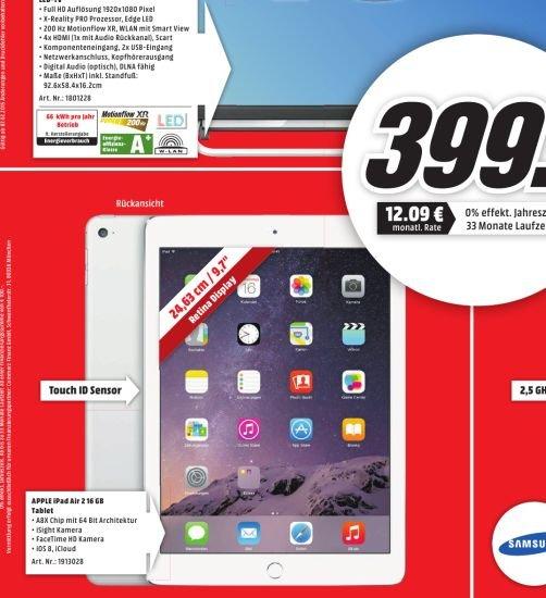 [Lokal MediaMarkt Bielefeld] Apple Air Pad 2,16 GB, Wifi in Silber für 399,-€