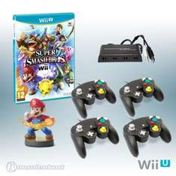 [Konsolenkost] Wii U - Super Smash Bros. + GameCube Adapter + 2 GameCube Controller + Amiibo Mario (NEU & OVP)