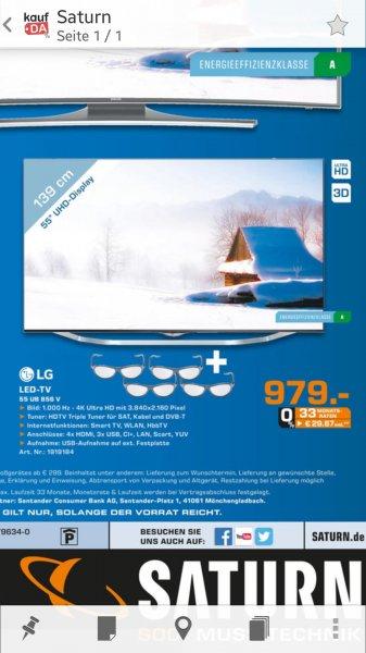 LG 55UB856V für 979€ Saturn Bielefeld