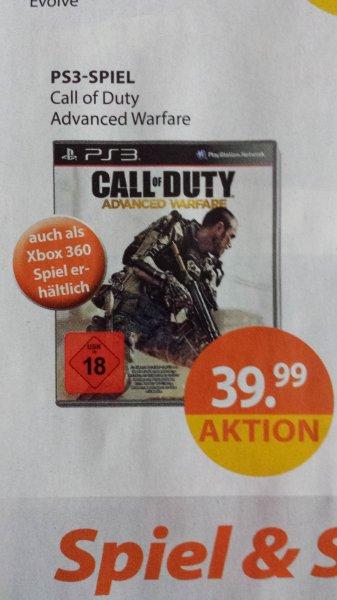 [Lokal,Deutschlandweit?Online?] MÜLLER Call of Duty Advanced Warfare PS3 & XBOX360: 39,99€
