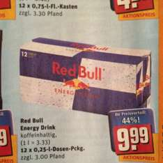 Red Bull 0,83 Cent/Dose REWE