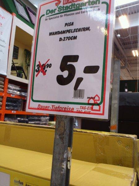 [Lokal Stuttgart] Bauhaus Ampelschirm 270cm mit Wandmontage für 5€