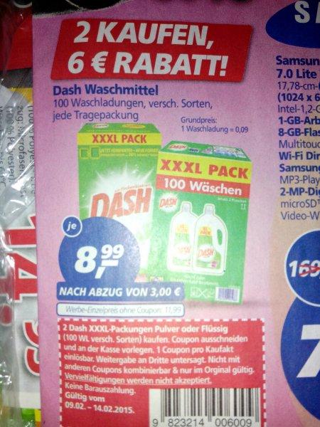 (2x) Dash Waschmittel XXXL Pack [REAL bundesweit]