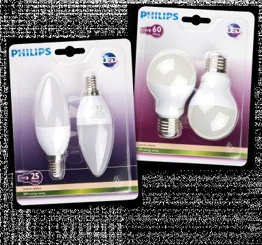 [NRW] Penny - PHILIPS LED-Leuchtmittel 2er-Packungen z.B. E27 9,5W für 9,99 Euro, E14 3W für 5,99
