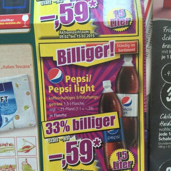 [NORMA] Pepsi (light) 1,5l für 0,59€