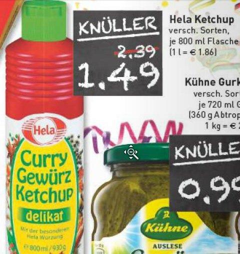 [ Marktkauf RHEINRUHR ]  Hela Gewürz Ketchup 800ml 1,49€