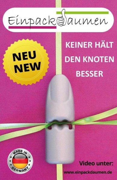 Einpackdaumen - Geschenke verpacken und Schleifen binden leicht gemacht für 0,79 € + 1,90 € Versandkosten @ Amazon.de