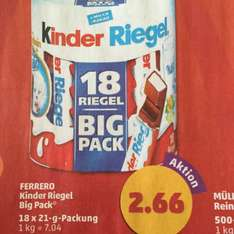 Ferrero Kinderriegel Big Pack und Müller Buttermilch bei Penny am Framstag