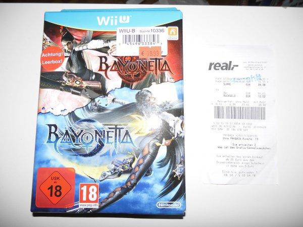 Lokal Real Landshut Wii U Bayonetta Special Edition (Teil 1+2) für 19,99 € (Idealo 54,50 €)