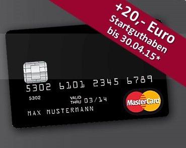 Valovis Bank kostenlose Schwarze Kreditkarte: 20€ Startguthaben bei Bestellung und Nutzung bis 30.04.2015
