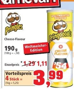 [Thomas Philipps] Pringels 4 Dosen a' 190g zum Vorteilspreis