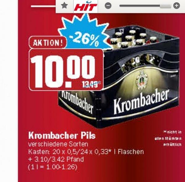 [HIT Hildesheim, bundesweit?!] 24x 0,33 oder 20x 0,5 Krombacher versch. Sorten für 10 €
