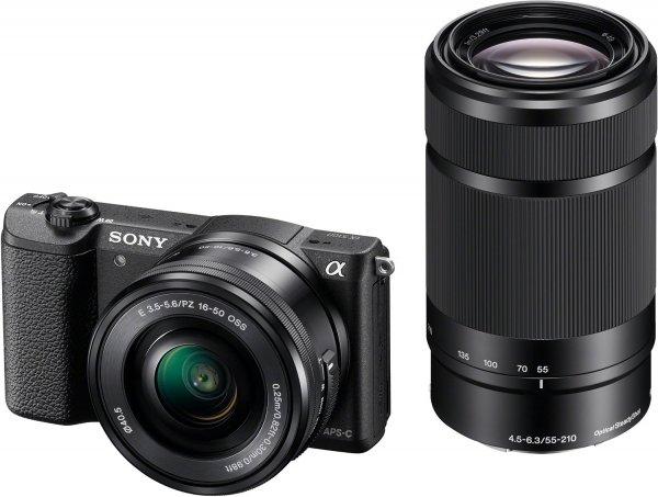 [Amazon Frankreich] Sony Alpha 5100 (ILCE5100YB.CEC) Systemkamera Kit mit 16-50 mm +  55-210 mm Objektive für 526,54€ inkl. Versand